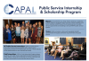 2021 CAPAL Public Service Internship and Scholarship Program program flyer.