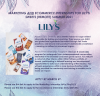 Flyer for an 8-week paid marketing or eCommerce internship with Lily's Sweets. Application due March 4, 2021.