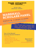 Flyer for the Marshall Scholars Panel