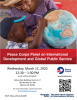 Advertisement for the Peace Corps panel.