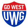 "Logo for the University of West Georgia reading ""Go West UWG"""