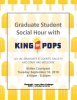 Poster with yellow popsicle background and king of pops logo