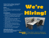 "Image of an office cubicle under the words ""we're hiring."" Includes information related to the Nunn School search for a new student assistant."